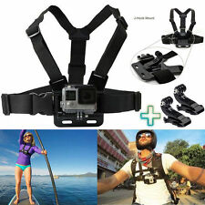 Petto Cinghia Harness Mount regolabile + 2x J GANCIO GOPRO HD HERO 1 2 3 3+ 4 CAM UK