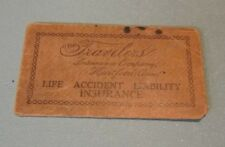 Antique Travelers Insurance Company Hartford Connecticut Business Card Envelope