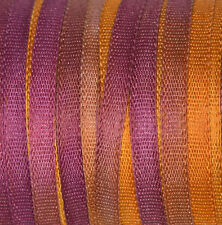 "Silk Ribbon Space Dyed 2mm (1/16"") Cardmaking & Scrapbooking - 3 mtr Gold Pansy"