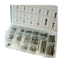 224 pc Stainless steel nuts and bolts M3 M4 M5 M6 box
