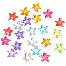 100pcs Mixed Colorful Plastic Starfish Charms Spacer Bead Findings Craft BS