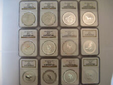 1999-2010 Australian Lunar Series 1,  1 oz Silver Full Set All Graded NGC MS 70