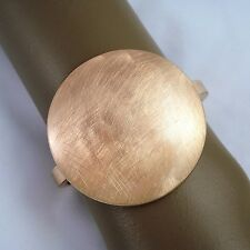 Dansk Smykkekunst- 'Ortensia' Scratch Disc Rose Gold Plate Bangle 6.25""