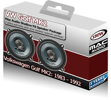"VW Golf MK2 Front Door speakers Mac Audio 5.25"" 13cm car speaker kit 180W"