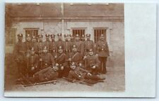 ANTIQUE Vintage WW1 GERMAN Real Photo RPPC Postcard ARMED SOLDIERS IN UNIFORM