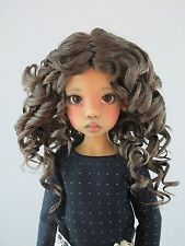 Monique REBECCA Wig Brown Black color Size 8-9 SD BJD shown on Kaye Wiggs Hope