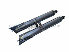 exhaustSilencer,Exhaust silencers,Tail pipes 1 Pair Zündapp DB 200/201 without