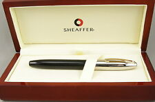 Sheaffer Legacy Black & Palladium Fountain Pen In Box -Mint NOS -18kt Medium Nib