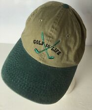 Golf Is Life Hat Cap Embroidered Adjustable Cotton Logo Clubs Sewn Funny