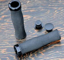 "Black Lock On Cruiser GRIPS  7/8"" MTB BMX Bike Vintage Schwinn Bicycle Chopper"