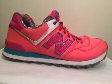 New Balance 574 Hot Pink Running Walking Fashion Sneakers Shoes Womens Size 10