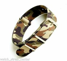 Nato Nylon Watch Strap Band  Military Army 18mm  22mm  Khaki Camouflage