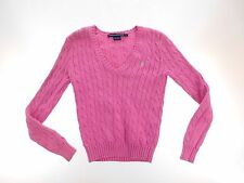 Polo Ralph Lauren Womens Sweater Size XS XSmall Barbie Pink V Neck Knitted Sport