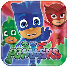 PJ MASKS SMALL PAPER PLATES (8) ~ Birthday Party Supplies Cake Dessert Disney