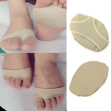 Pair Forefoot Insoles Silicone Fabric Pad Shoes Toe Insert Cushion Massage Care