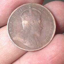 1908 KEVll 1/2 cent copper coin Very nice!