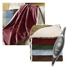 Sunbeam Sherpa RoyalMink Electric Heated Throw Blanket - Assorted Colors