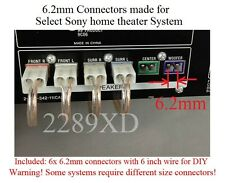 6 6.2mm speaker connectors made for select Sony Samsung Philips home theater/TV