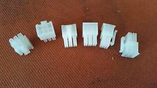 6 - 6 pin Female PCI-E Connector Clear with Pins, for Antminer S3, S5,S7, GPU