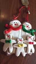 CHRISTMAS Gingerbread Cookie ~ FAMILY OF 4~ ORNAMENT Xmas Tree Decoration ~~ NEW