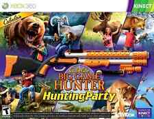 New Cabela's Big Game Hunter Hunting Party w/ Gun Xbox 360 Top Shot Sport Kinect