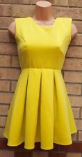 OH MY LOVE NEON YELLOW SKATER A LINE BACKLESS SUMMER FORMAL RARE DRESS XS