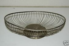"Beautiful Vintage Raimond Silverplate 12"" x 7.5"" Wire Bread Basket Bowl Serving"