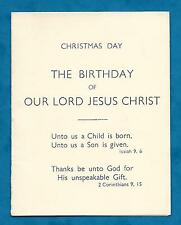 1935 CHRISTMAS GREETING CARD FROM REV & MRS LLOYD KINSON VICARAGE, BOURNEMOUTH