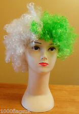 Green and White Wig Hat - Fancy Dress - Yeovil Town Plymouth Argyle Hibs