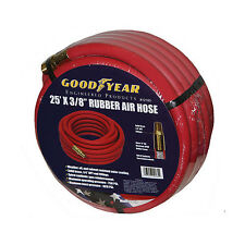 "Good Year 25' x 3/8"" 250 PSI Rubber Air Compressor Hose 12185 Goodyear USA Made"