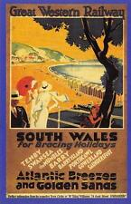 Postcard Nostalgia c1920's GWR Sunny South Wales Advertisement Reproduction Card
