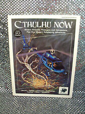 CALL OF CTHULHU: CTHULHU NOW~FIREARMS & FORENSICS~CHAOSIUM#2322 HP LOVECRAFT VG+