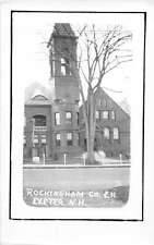 Exeter New Hampshire Rockingham County Court House Real Photo Postcard J51507