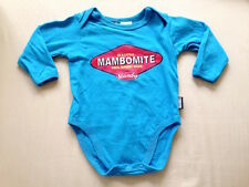 ♥ Baby Mambo 'Mambomite' Blue Onesies Long Sleeves Bodysuit (Newborn) ♥