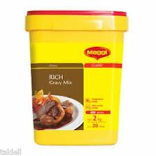 RICH GRAVY MIX 2KG BY MAGGI - LONG BEST BEFORE JUNE 2017 (SECURELY PACKED)