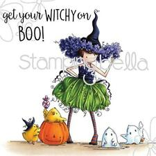 New Stamping Bella Cling Rubber Stamp Halloween Tiny Townie Willow the WITCH