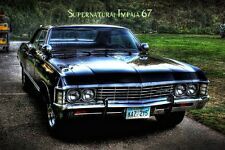 "Supernatural US TV Show Supernatural impala67 KANSAS CAR Canvas Poster 20""x13"""