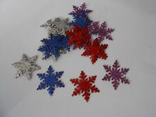Confezione da 20 Misto Abbellimenti Fiocco di Neve Glitter per biglietti e Artigianato