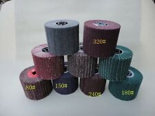 8 Piece FLEECE (Nonwoven) Wheel Grit 60 80 For Burnishing Tools Machine Fein