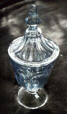 Vintage Carnival Glass/Blue Candy Dish With Lid
