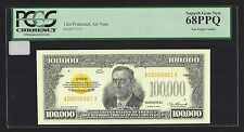 $100,000.00 Gold Certificate, Series 1934, Tim Prusmack Money Art, PCGS 68PPQ
