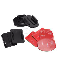 4 x Flat & Curved Helmet Mounts With 3M Adhesive Pads For GoPro HD Hero 1 2 3 3+
