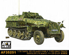 AFV Club 1/35 Scale Sd.Kfz. 251/9 Ausf.C EARLY TYPE Plastic Model Kit AF35251