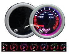 "2"" 52mm Smoke 7 Color LED Water Temperature Temp Gauge Pod Meter w/ Sender New"