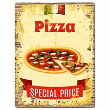 PP0925 PIZZA Parking Plate Chic Sign Home Restaurant Cafe Kitchen Decor Gift