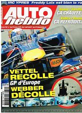 B32- Auto Hebdo N°1759 GP d'Europe Vettel recolle accident Webber