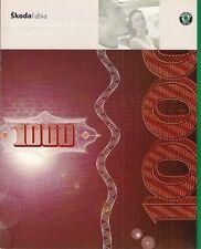 Skoda Fabia 2001 UK Market Prices Equipment & Colour/Trim Brochure