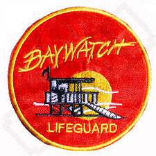 BAYWATCH Lifeguard Fancy Dress Iron Sew On Patch Badge Tshirt Transfer