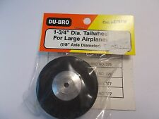 "DU=BRO 1-3/4"" DIA. TAILWHEEL FOR LARGE AIRPLANES (1/8"" AXLE DIAMETER)"