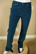 $895 Kiton Teal Corduroy Pants sz 58  42 Blue Green Jeans Cords Red Trousers New